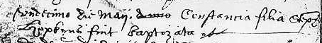 Constance Hopkins - Baptism Record